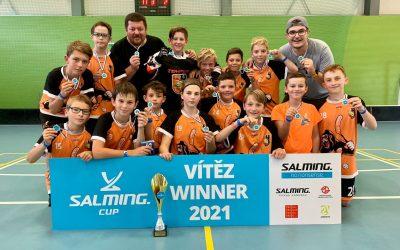 Mladší žáci dokázali společně s FBŠ Gorilly Plzeň ovládnout SalmingCUP 2021
